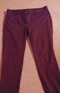New York And Company Burgundy Knit Pants Size 4